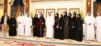 H.H. Sheikh Hamdan Bin Rashid receives the graduates of the Multiculturalism and Leadership program