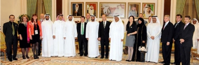 H.H. Sheikh Hamdan Bin Rashid receives the president of the International Tunneling & Underground and Space Association