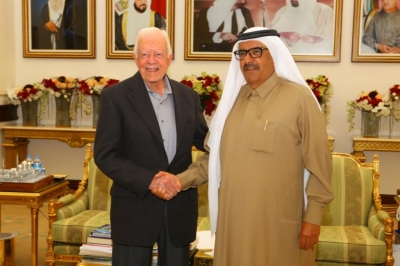 H.H. Sheikh Hamdan Bin Rashid receives Jimmy Carter