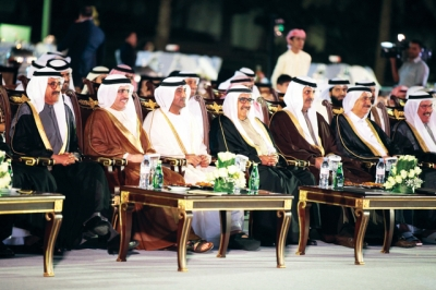 H.H. Sheikh Hamdan bin Rashid witnesses a mass wedding for DEWA's employees