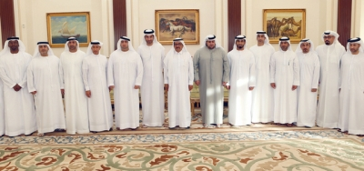 H.H. Sheikh Hamdan bin Rashid receives the members of the new Board of Directors of Al-Nasr Club