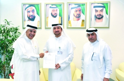H.H Sheikh Hamdan Bin Rashid Al Maktoum Deputy Ruler of Dubai Minister of finance and patron of Al Maktoum charity Authority contributed a total of six hundred thousand AED to UAE University students' fund.