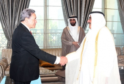 Hamdan bin Rashid receives New Zealand Deputy Prime Minister
