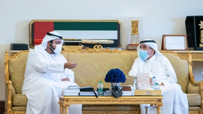 Hamdan bin Rashid receives Fujairah Crown Prince